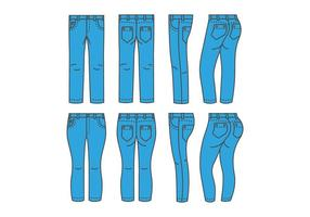 Vetores de Jean Azul