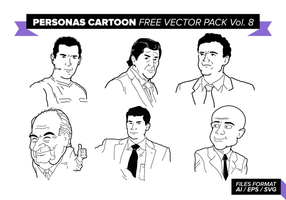 Personas Cartoon kostenlos Vektor Pack Vol. 8