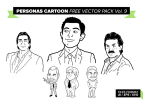 Personen Cartoon Gratis Vector Pack Vol. 9