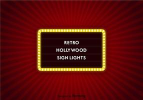 Vector Hollywood Sign Lights