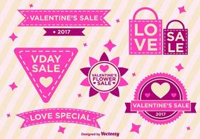 Valentine Days Vector Labels
