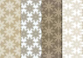 Vector Delicate Schneeflocken Pattern Set