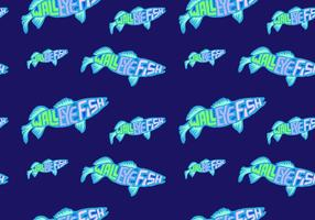 Free Walleye Seamless Pattern Vector Illustration