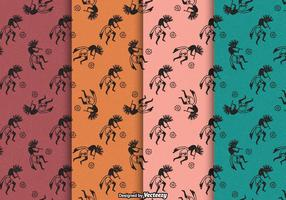 Free Kokopelli Trickster Vector Patterns