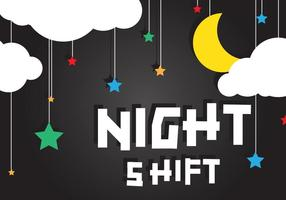 Night Shift Achtergrond Vector