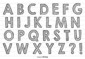 Nettes Handgezeichnetes Alphabet