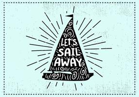 Hand Drawn Sail Background vector