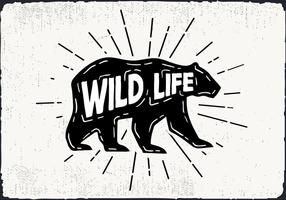 Free Hand Drawn Wild Life Background vector