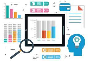 Elementi di infografica vettoriale gratis Design piatto