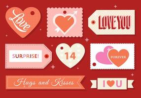 Vector Valentine's Day Labels