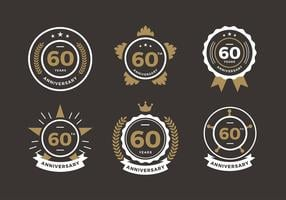 60th anniversary logo free vector