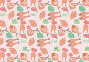 Fish Fry Pattern Vector