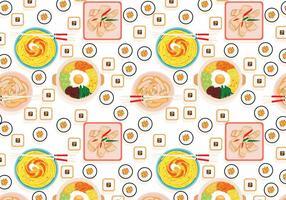 Vector de patrón de comida coreana