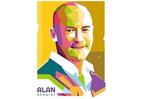 Alan Shearer Football player vector