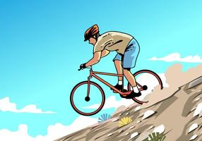 Mountain Bike Trail Vector