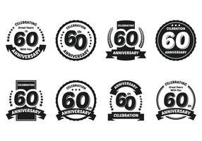 60ste Badges vector