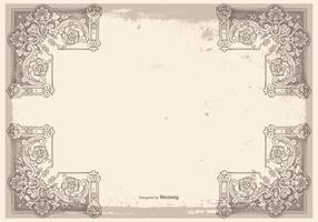 Fondo del marco de la vendimia de Grunge