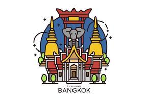 Ilustración vectorial Landmark Bangkok