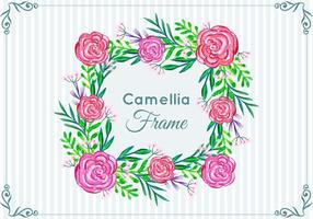 Beautiful Free Vector  Camellia Frame