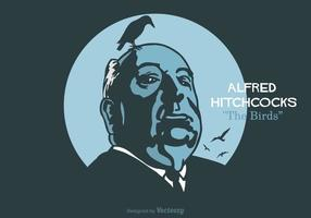 Gratis Alfred Hitchcock Vector Illustration