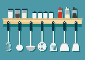 Hanging Cookware vector