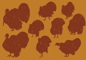 Turkeys Silhouettes vector