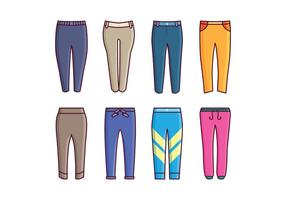 Free Sweatpants Vector Pack