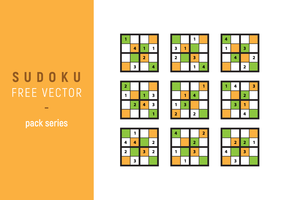 Sudoku Vector Pack Series
