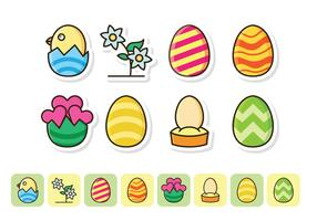 Free Easter Icon Set vector