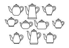 Freie Teekanne Vektor