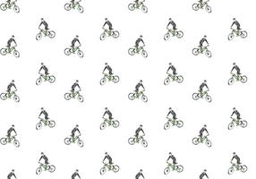 Gratis Bicicleta naadloze patroon Vector Illustration