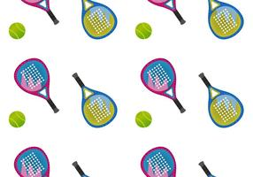 Gratis Padel naadloze patroon Vector Illustration