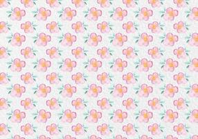 Gratis Vector Pink Watercolor Floral Pattern