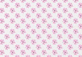 Free-vector-pink-spring-watercolor-flowers-pattern