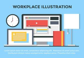 Gratis Vector Flat Design Office Illustration