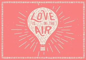 Hand Drawn Hot Air Balloon Vector Background