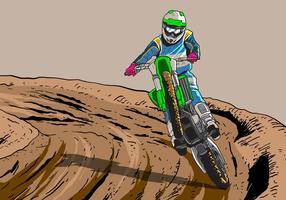 Vectores de la pista de motos de la suciedad