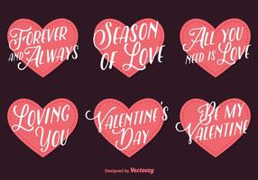 Love Lettering Vector Hearts