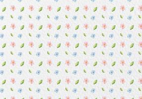 Vector Watercolor Spring Flowers Pattern