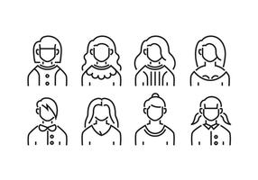 Women avatars vector