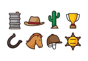 Barrel Racing Icon Set