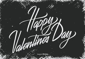 Grunge Happy Valentine's Day Illustration vector