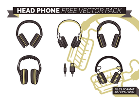 Cabeça de telefone gratuito Pacote Vector