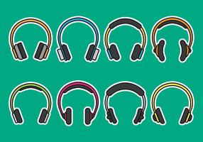 Head Phone Icons vector