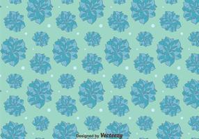 Bleu Camellia Flowers Pattern