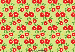 Red Camellia Flowers Seamless Pattern