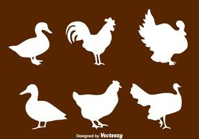 Silhouette Fowl Collection Vector