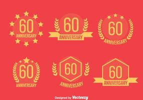 60th Annivecsary Emblem Vector