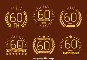 Niza 60º vectorial Emblema Annivesray