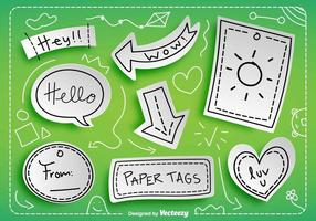 Vector Paper Tags With Messages